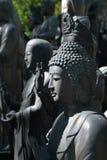 Buddha Statue hand posture - mudra - Korean Buddhist temple stock image