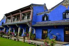 Cheong Fatt Tze - голубой особняк стоковая фотография
