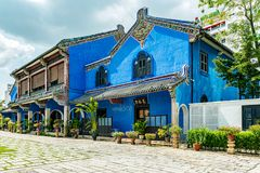 Cheong Fatt Tze den blåa herrgården i George Town, Malaysia royaltyfria foton