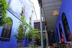Cheong Fatt Tze - la mansión azul fotos de archivo libres de regalías