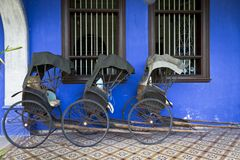 Tuk-Tuk's at Blue Mansion Stock Image