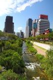 Cheong Gye Cheon rzeka Seul Zdjęcie Royalty Free