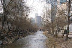 Cheonggyecheon το χειμώνα Στοκ φωτογραφίες με δικαίωμα ελεύθερης χρήσης