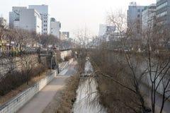 Cheonggyecheon το χειμώνα Στοκ εικόνες με δικαίωμα ελεύθερης χρήσης