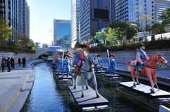 Cheonggyecheon stream Seoul South Korea royalty free stock photos