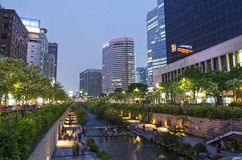 Cheonggyecheon stream in seoul south korea Stock Images