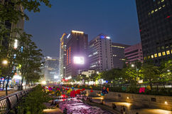 Cheonggyecheon stream in central seoul south korea Stock Image