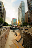 Cheonggyecheon Stream in Seoul, South Korea stock photo