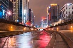 Cheonggyecheon stream. Royalty Free Stock Photo