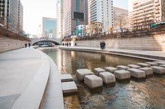Cheonggyecheon stream. Stock Photos