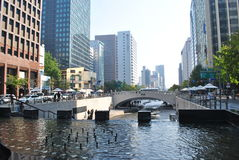Cheonggyecheon Stream in Seoul, South Korea Stock Photo