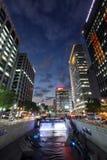 Cheonggyecheon strumień w Seul mieście, Korea Zdjęcie Royalty Free