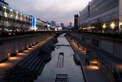 Cheonggyecheonstroom Stock Afbeelding
