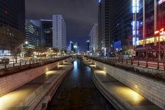 : Cheonggyecheonstroom Stock Fotografie