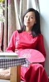 Cheongsam kvinna Royaltyfri Foto