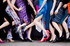 Cheongsam legs Stock Images