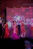 Cheongsam przedstawienia pierwszy chybienie Jiangxi Międzynarodowy konkurs Zdjęcie Royalty Free