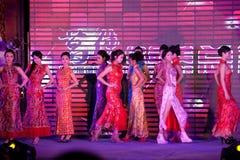 Cheongsam przedstawienia pierwszy chybienie Jiangxi Międzynarodowy konkurs Obraz Stock