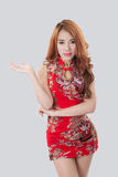 Cheongsam vestindo modelo asiático bonito Imagem de Stock