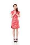 Cheongsam woman Royalty Free Stock Photo