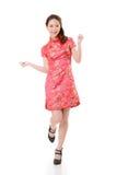 Cheongsam woman Stock Images