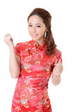 Cheongsam woman Stock Photos