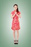 Cheongsam woman Royalty Free Stock Images