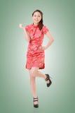 Cheongsam woman Royalty Free Stock Photos