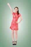 Cheongsam woman Royalty Free Stock Image