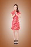 Cheongsam woman Stock Image
