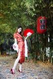 Cheongsamkleding stock afbeeldingen