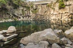 Cheonjiyeon Falls in Jeju Island, South Korea Stock Images