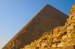 cheops金字塔废墟 免版税图库摄影