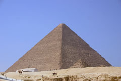 Cheops. Old Pyramid of Cheops - Giza Stock Photo