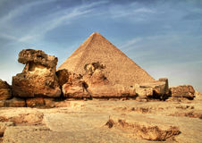 Cheops pyramid. In Giza - Egypt Royalty Free Stock Photo