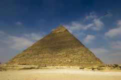 The Cheops pyramid of Giza. Inside Giza: Great Pyramid of Cheops (Khufu stock photography