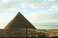 cheops埃及吉萨棉极大的khufu金字塔 库存照片