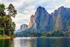 Cheow Lan jezioro Obrazy Stock