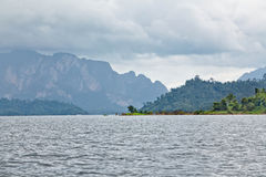 Cheow Lan lake. Khao Sok National Park. Thailand Stock Photography