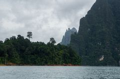 Cheow Lan lake inside Khao Sok National Park. In Southern Thailand Royalty Free Stock Photography