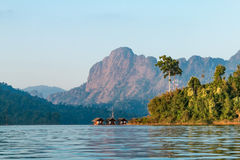 Cheow Lan lake. Khao Sok National Park. Thailand. Royalty Free Stock Photos
