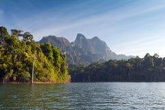Cheow Lan Lake or Rajjaprabha Dam Reservoir, Thailand Royalty Free Stock Images