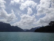 Cheow Lan lake. In Thailand Royalty Free Stock Images