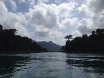 Cheow Lan lake. In Thailand Stock Photo