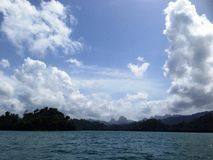 Cheow Lan lake. In Thailand Royalty Free Stock Image
