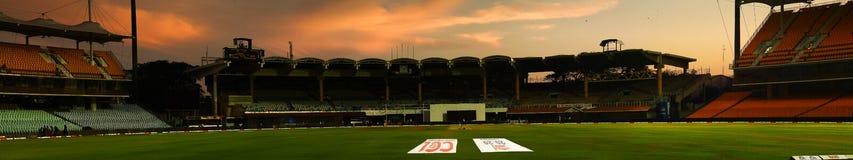 Chepauk cricket stadium. The MA Chidambaram Stadium at Chepauk, Chennai a day before the Celebrity Cricket League semi-finals royalty free stock image