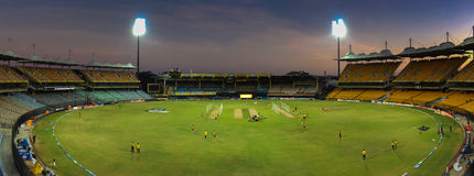 Chepauk cricket stadium. The MA Chidambaram Stadium at Chepauk, Chennai a day before an IPL game stock images