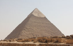 Chephren pyramid view. In Egypt, Cairo, with nobody around royalty free stock photo