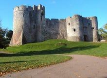 Chepstow城堡在10月 库存图片