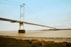 Chepstow Великобритания висячего моста Severn Стоковое Изображение RF